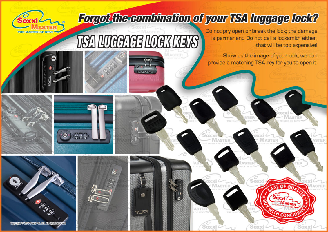 TSA Luggage Lock Keys - Soxxi Master