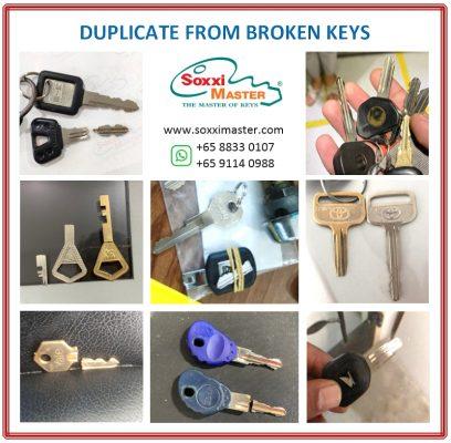 Duplicate broken key