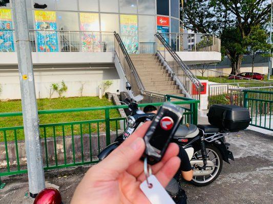 Honda Super Cub smart key