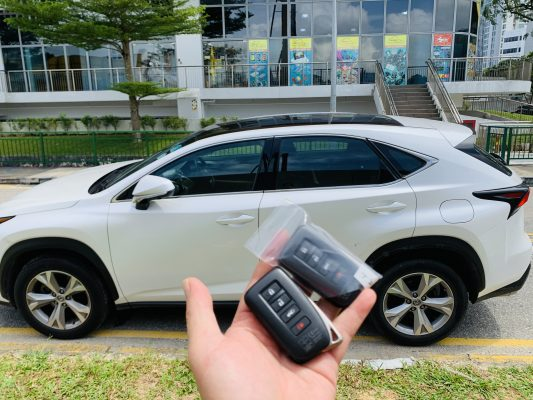 Lexus NX200 smart key