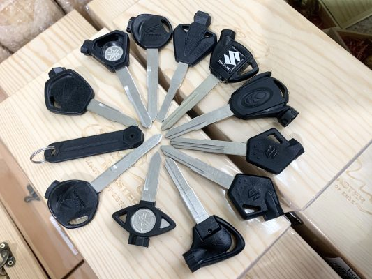 Motorbike magnetic key
